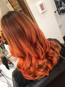 picture of long hair with copper tones
