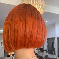 picture Ladies copper bob hair cut